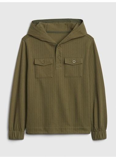 Gap Kapüşonlu Sweatshirt Yeşil